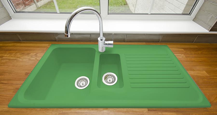 Green Kitchen Sink - Sink Ideas